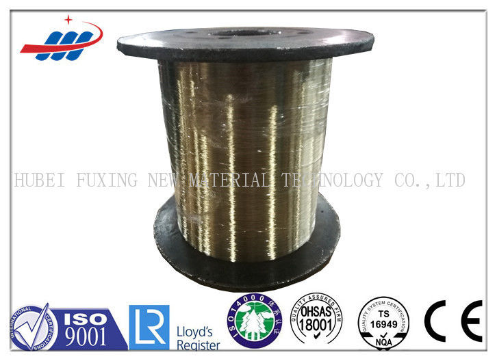 Rubber Hose / Tyre Bead Wire 0.25-0.35mm Gauge With Brass Coated Surface