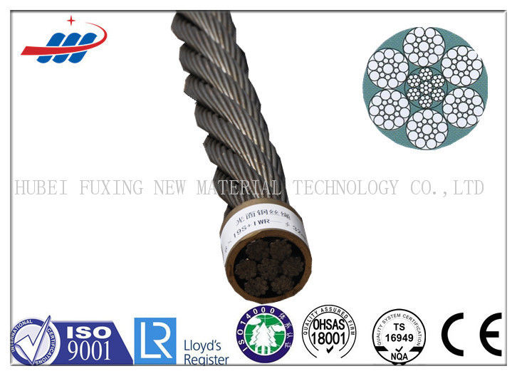 Ungalvanized Elevator Steel Wire Rope 6x19S+IWRC With Drawn Wire Type