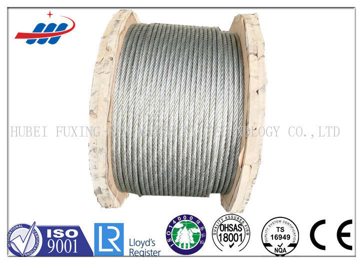 High Strength Galvanized Steel Wire Rope No Oil For Aircraft Cable 7x19